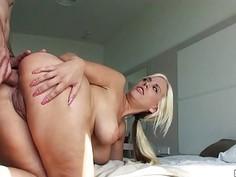 Hot gf Blondie Feser first time anal sex