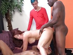 Janet Mason And Misty Stone Interracial Swingers