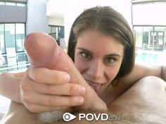 Lexy Lotus has her pussy licked in POV