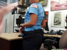 Miss Police officer sucking cock and fucked in her pussy