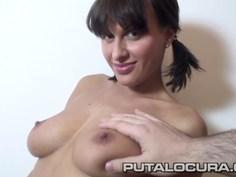 Cute Czech puts her beautiful boobs to work