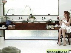 Monster cocked Shane Diesel fucking hard redhead slut Penny Pax