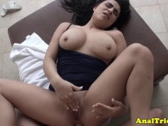 Thick girlfriend assfucked on homevideo