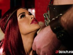 Jessa Rhodes gets some barbarian sex for saving a hero in danger