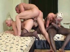 Amy and Jessica in splendid foursome orgy