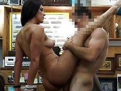 Babe pawned her pussy and nailed hard